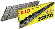 DID 520 VX3 BLACK (STEEL/RAW) MOTORCYCLE CHAIN with RIVET link 120 links