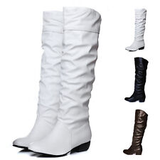 New Wome Fashion Over Knee Boots Stretch Shoes Knee High Long Boots Low Heel