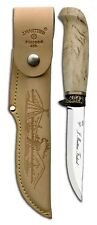 Marttiini Jagdmesser Hunters Knife 450012 Stainless Steel Curly Birch Finnish