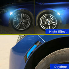 2x Car Door Edge Guard Reflective Sticker Tape Decal Safety Warning Blue