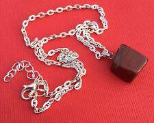 Red Jasper Block Polished Gemstone Necklace Women's Teens NEW - Aussie Seller!!