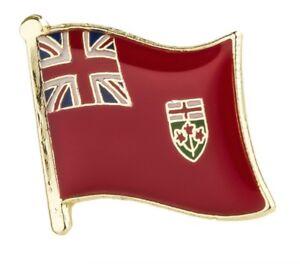 Ontario Canada Flag Lapel Pin 16mm x 19mm Hat Tie Tack Badge Pin Free Shipping