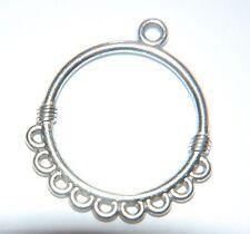6 X simple pendiente de placa de plata Antiqued había Multi-araña de conector de enlace ~ 35mm