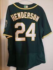 Ricky Henderson green Oakland Athletics jersey