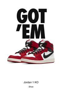 Nike Air Jordan 1 KO 'AJKO' US Men's Size 14 women's 15.5   DA9089-100