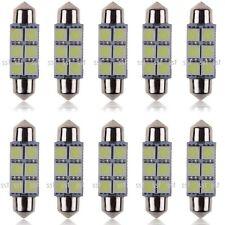 10x 41mm 42mm LED 239 272 C5W CANBUS NO ERROR WHITE INTERIOR LIGHT FESTOON BULB