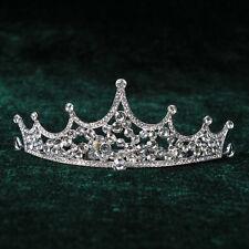 Crystal Princess Tiara Wedding Bridal Pagent Crown Hair Headband Veil Accessory
