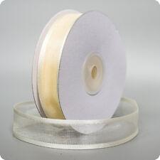 3 Yards * crème * Satin Bord Organza Ruban 20mm de large * décoration de mariage
