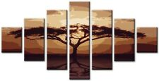 7 Panel Total Size 160x90cm POSTER CANVAS PICTURES WALL ART PRINTS ACACIA Brown