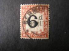 TRANSVAAL, SCOTT # J6,  6p. VALUE POSTAGE DUE 1907 USED