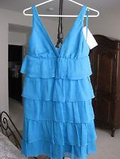 JCREW ZADIE DRESS IN SILK CHIFFON MOSAIC BLUE #38664 SIZE 6 PETITE NWT