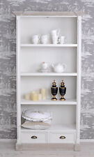 Cottage Bookcase Shelf Rack Office Filling Cabinet White Shabby Library