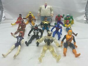 Toybiz Marvel Comics SpiderMan Characters 1990s Action Figures Vintage LOT OF 13