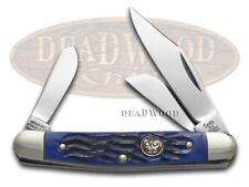 Hen & Rooster Jigged Blue Bone Stockman Stainless 333BLPB Pocket Knife