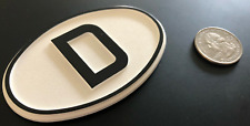 CLASSIC OVAL WHITE D DEUTSCHLAND GERMAN COUNTRY BADGE -  FREE SHIP
