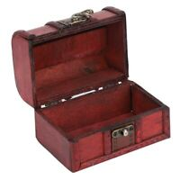 Wooden Jewellery Storage Case Holder Vintage Treasure Chest Necklace Display Box