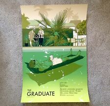 The Graduate Tomer Hanuka Rare Limited Edition Movie Poster Print Mondo /250