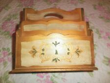 Italian Florentine Gold Gilt Wood Letter Holder Desk Organizer