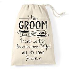Groom Wedding Gift Bag | Vintage Design | Personalised