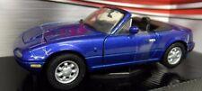 Motormax 1/24 Scale 73262B Mazda MX5 Roadster MK1 Miata Eunos etc Blue Model Car