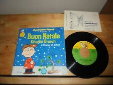 "Charles M. Schulz ‎""Buon Natale Charlie Brown"" 7"" CB RECORD 45"" ITA 1979"