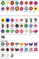 Birthday Kids Gift 100pcs PVC Shoe Charms Decorations Fit Hole Shoes/Wristbands