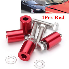 "RED 1"" BILLET HOOD VENT SPACER SPACERS KITS FOR 8MM TURBO ENGINE ALL M​OTOR SWAP"