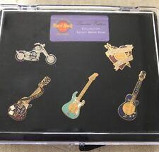 Hard Rock Hotel LAS VEGAS 1998 MINI Teddy Bear 5 PIN Collector SET - HRC #4701