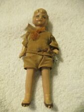 Vintage 4� Miniature German Bisque Jointed Boy Doll With Clothes
