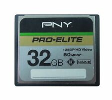 PNY CompactFlash 32GB CF Memory Card PRO-ELITE 50MB/S Camear DSLR 1080P UDMA6