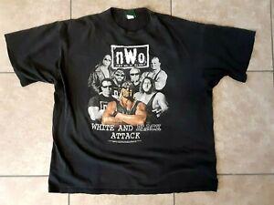 Vintage NWO Hollywood Hulk Hogan White And Black Attack T-shirt Sz XXL 1998-USA