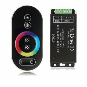 Neu RF LED RGB Controller 18A Touch-Funk Steuergerät Wireless mit Fernbedienung