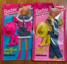 BARBIE Lot of 2 Western Fun Fashions Outfits with Boots & Cowboy Hat - 1994 NFRP