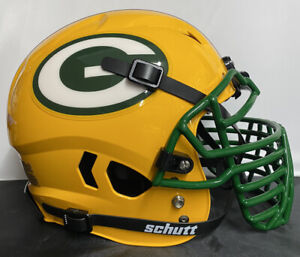 Green Bay Packers Custom Full Size Authentic Schutt Vengeanc Football Helmet BG