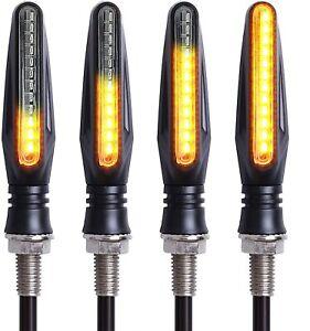 Lot 4 Clignotant Moto LED Universel Ampoule Séquentiel Homologue Clignotants Feu