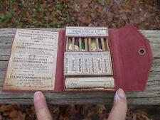 Antique Fraisse & Co. Laboratory Emergency Medical Pocket Paris 6 Bulbs/Vials