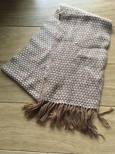 Alpaca Knitted Thin Wool Scarf Brown Coffee White