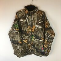 Under Armour Brow Tine Storm Hunting Jacket Women's XL Zip Front Realtree Edge