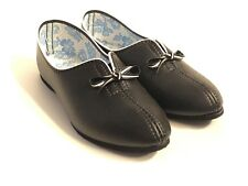 Mid Century Footease Soft Sole Size 5 Slippers Black Dead Stock