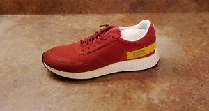 New! Ermenegildo Z Zegna Techmerino™ Piuma Sneakers Red Mens 11.5 D MSRP $395
