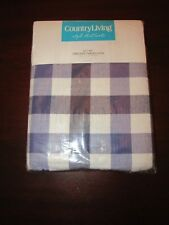 country living checked gingham plaid tablecloth 60x102 oblong blue white