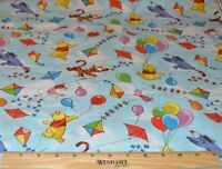 WINNIE THE POOH FABRIC! 1/2 YARD~QUILTING! DISNEY EEYORE~TIGGER~PIGLET! BRIGHT!