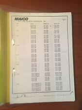 MAICO ENCYCLOPEDIA COVERING 1973-1984 WITH SERVICE/ PARTS MANUALS & STATS