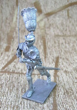 54 mm Tin Miniature Figure Toy soldier Knight of the 14th century 1:32
