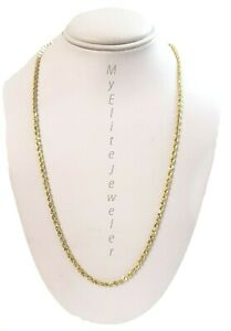 """SOLID 10KT Yellow Gold Rope Chain 2mm Necklace 22"""" Lobster Lock Real 10 carat"""
