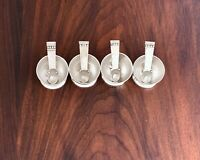 ~ SUBLIME (4) SPRATLING TAXCO MEXICAN STERLING SILVER SALTS & SPOONS NO MONOGRAM