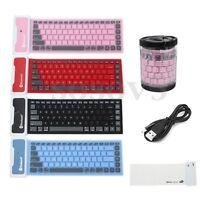 Waterproof Flexible Silicone Wireless bluetooth Mini Keyboard For Laptop &