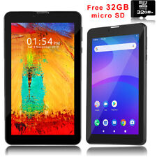 """Stylish 7"""" Android 9.0 QuadCore Tablet PC Wireless SmartPhone Free 32GB TF Card"""