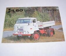 Prospekt / Broschüre DDR LKW IFA L 60 1218 4x4  DSK - Stand 1990!