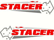 Stacer Australia Flag 3 Colour Fishing Boat, Mirrored Sticker Decal Set of 2